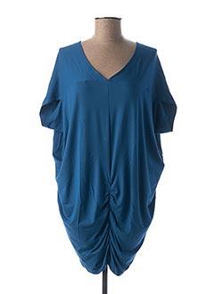Tunique manches courtes bleu KEDUA pour femme