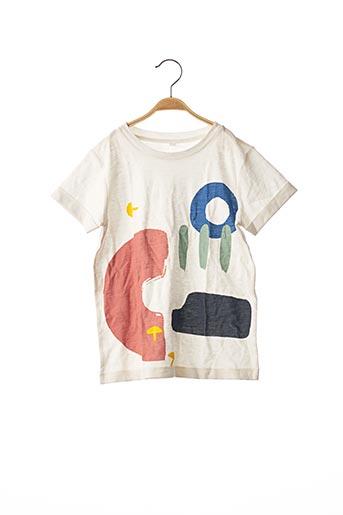 T-shirt manches courtes blanc SANS MARQUE pour enfant