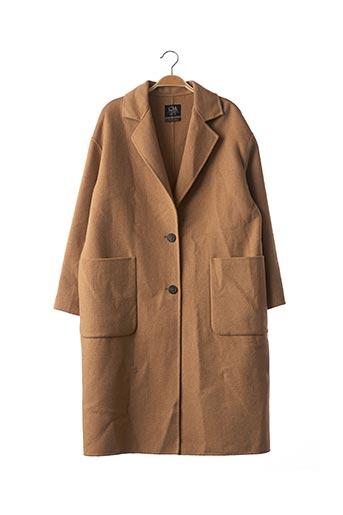 Manteau long beige CLOCKHOUSE pour femme
