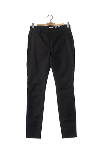 Pantalon casual noir CAMAIEU pour femme