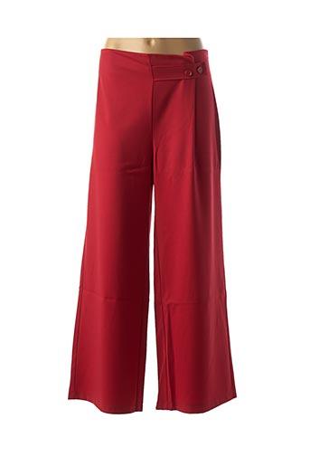 Pantalon casual rouge LA FEE MARABOUTEE pour femme