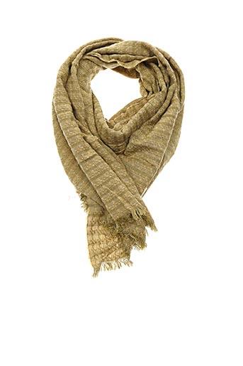 Foulard jaune LA FEE MARABOUTEE pour femme
