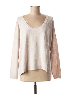 Pull col rond gris FINE COLLECTION pour femme