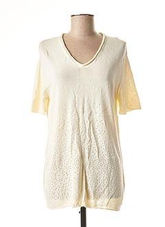 Pull tunique beige FUZZI pour femme
