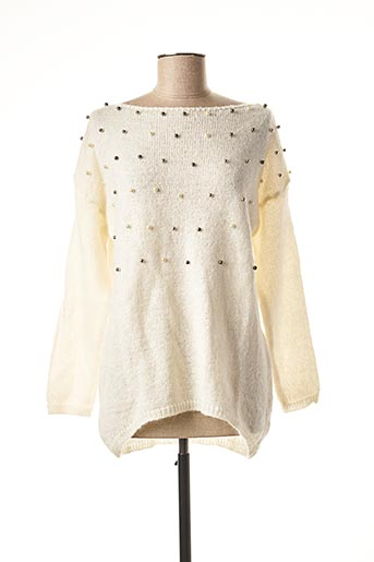 Pull col bateau beige FREE FOR HUMANITY pour femme