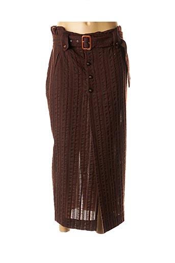 Jupe longue marron EASY pour femme