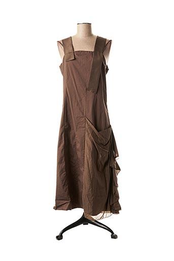 Robe mi-longue marron ECRU pour femme