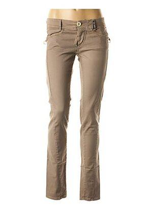 Pantalon casual marron HIGH pour femme