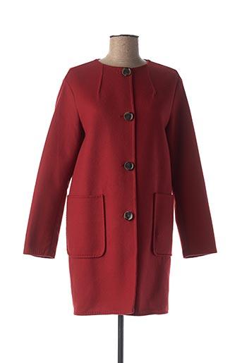 Manteau long rouge I BLUES pour femme