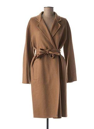 Manteau long marron MAXMARA pour femme