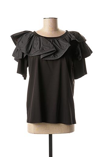 Blouse manches courtes noir EDWARD ACHOUR pour femme
