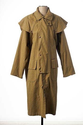 Manteau long vert MARLBORO CLASSICS pour homme