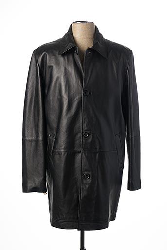 Veste en cuir noir ARROW pour homme