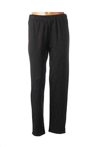 Pantalon 7/8 noir FRANCK ANNA pour femme