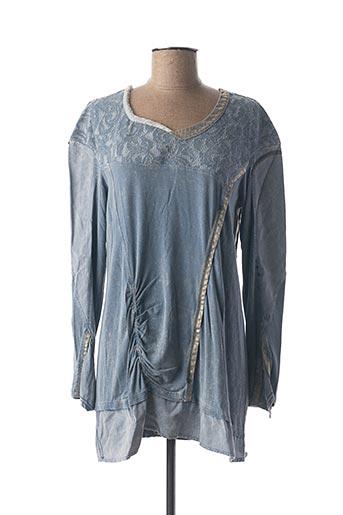 T-shirt manches longues bleu ELISA CAVALETTI pour femme