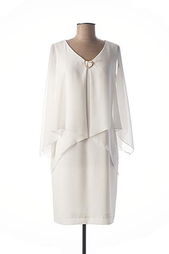 Robe mi-longue beige CHEMA BLANCO pour femme