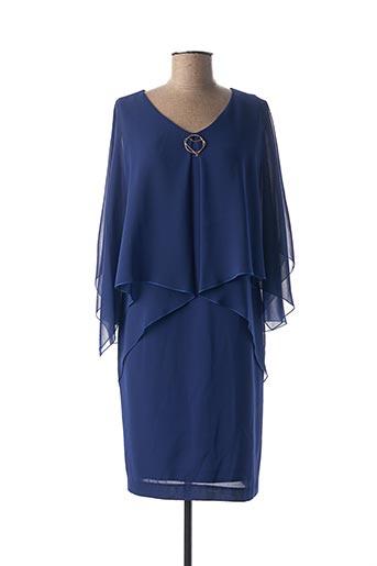Robe mi-longue bleu CHEMA BLANCO pour femme