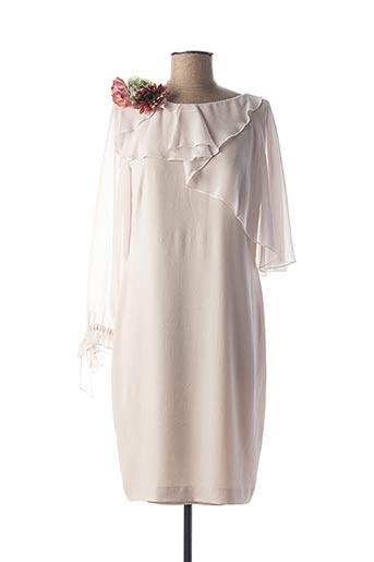 Robe mi-longue rose CHEMA BLANCO pour femme