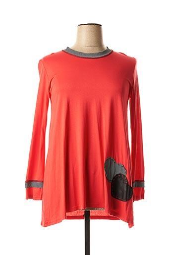 Tunique manches longues rouge FRANCK ANNA pour femme