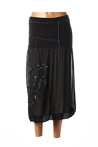 Jupe mi-longue noir ELISA CAVALETTI pour femme