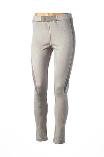Legging gris TRICOT CHIC pour femme