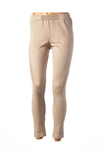 Legging marron TRICOT CHIC pour femme