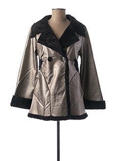 Manteau court gris CAPUCINE MODA pour femme