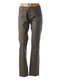 Pantalon casual vert B.S JEANS pour femme