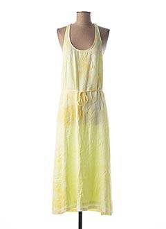 Robe longue jaune SWEEWË pour femme