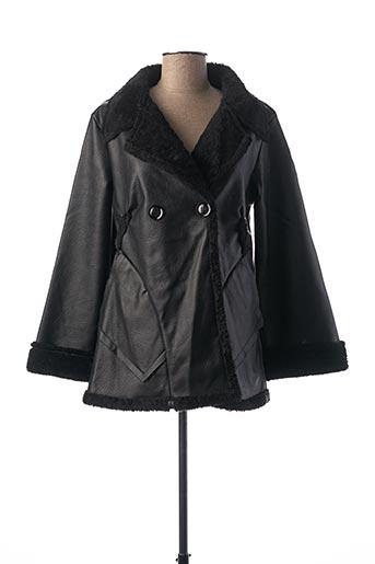 Manteau court noir CAPUCINE MODA pour femme
