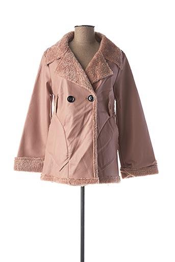 Manteau court rose CAPUCINE MODA pour femme