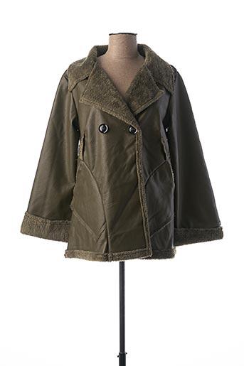 Manteau court vert CAPUCINE MODA pour femme