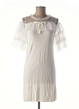 Robe mi-longue blanc BEAUTY WOMEN pour femme
