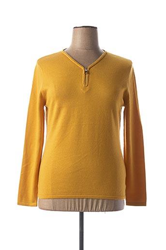Pull col V jaune ANANKE pour femme
