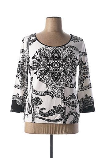 T-shirt manches longues blanc ANGELO MARANI pour femme