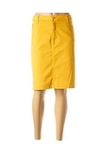 Jupe mi-longue jaune ANANKE pour femme