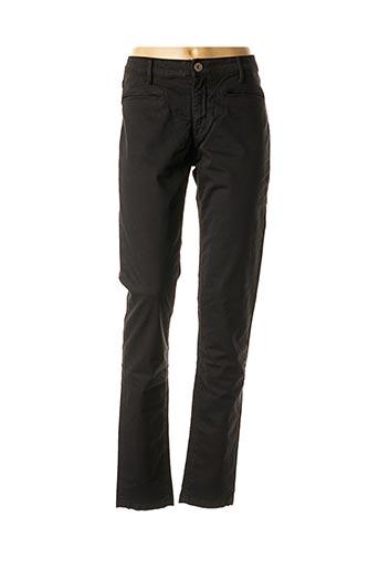 Pantalon casual noir DENIM STUDIO pour femme