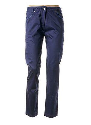 Pantalon casual bleu TRICOT CHIC pour femme