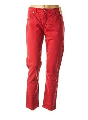 Pantalon casual rouge ANGELO MARANI pour femme