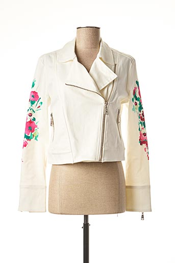 Veste casual blanc ANGELO MARANI pour femme