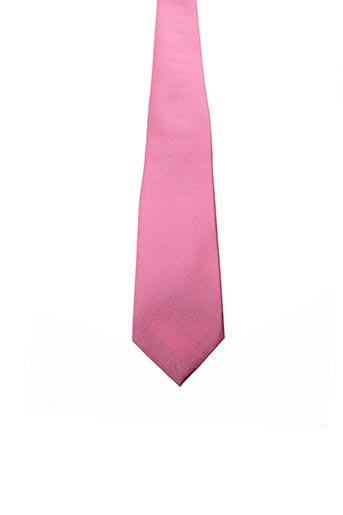 Cravate rose JEAN DE SEY pour homme