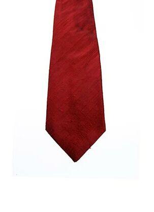 Cravate rouge JEAN DE SEY pour homme