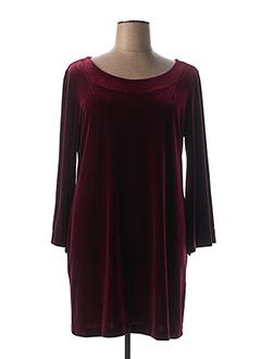 Robe mi-longue rouge LAUREN VIDAL pour femme