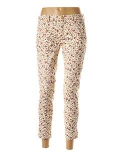 Pantalon casual beige REIKO pour femme