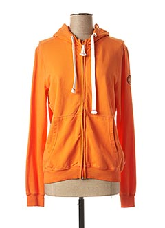 Veste casual orange FRENCH TERRY pour femme