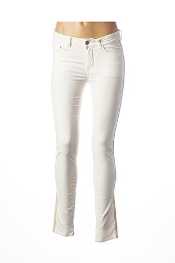 Pantalon casual blanc C'EST BEAU LA VIE pour femme
