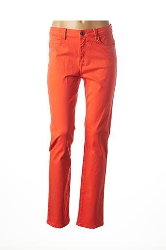 Pantalon casual orange DIANE LAURY pour femme