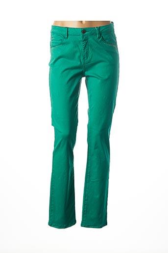 Pantalon casual vert DIANE LAURY pour femme