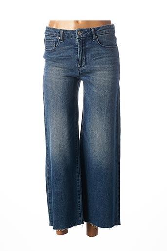 Pantalon 7/8 bleu C'EST BEAU LA VIE pour femme
