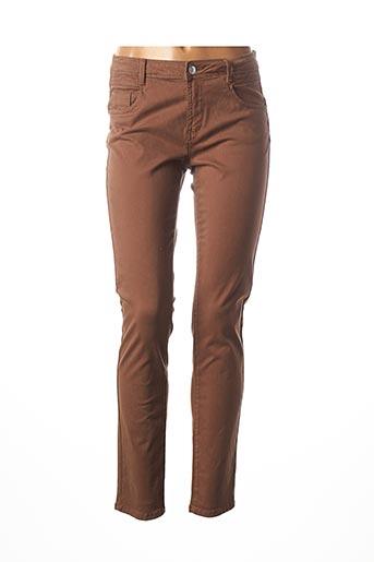 Pantalon casual marron C'EST BEAU LA VIE pour femme